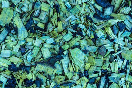 Green sawdust or shavings background