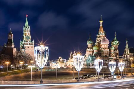 Cathedral of Vasily the Blessed and Moscow Kremlin