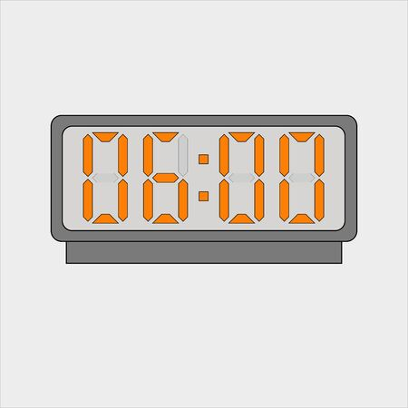 Electronic or digital alarm. Six hours o'clock