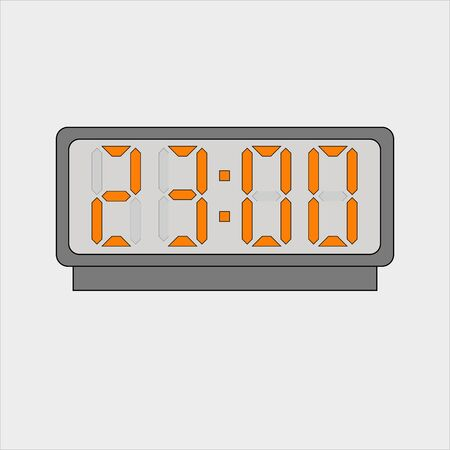 Electronic alarm. Twenty three hours o'clock Иллюстрация