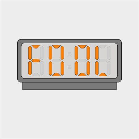 Stylized word fool on digital alarm or clock