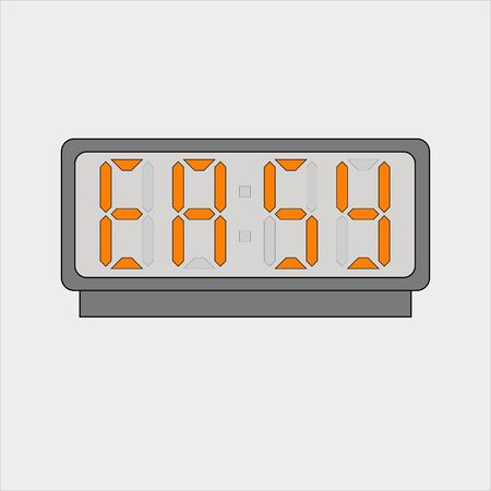 Stylized word Easy on digital alarm or clock
