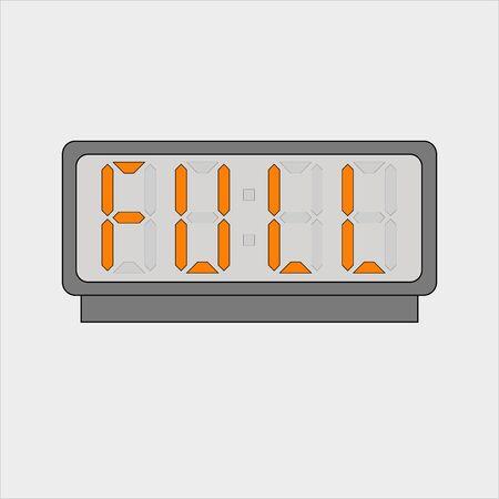 Stylized word full on digital alarm or clock