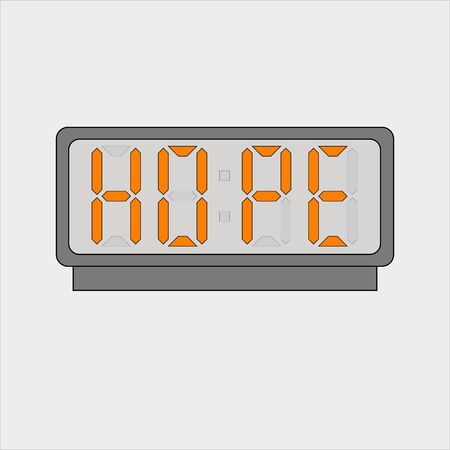 Stylized word hope on digital alarm or clock