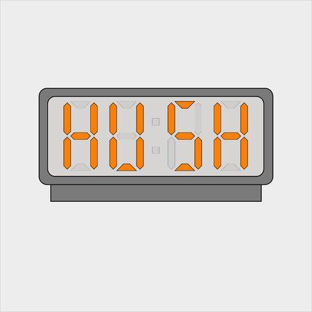 Stylized word hush on digital alarm or clock Ilustracja