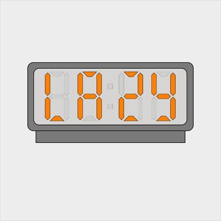 Stylized word lazy on digital alarm or clock