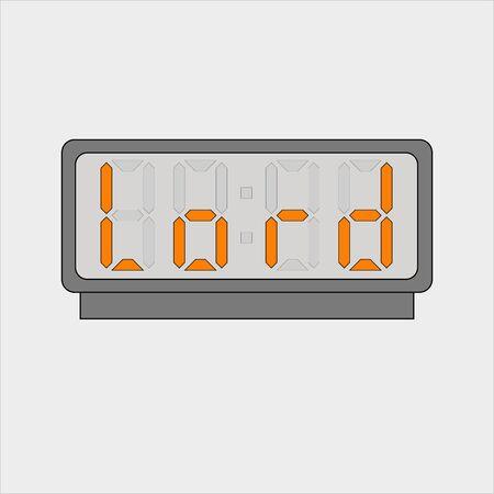 Stylized word Lord on digital alarm or clock
