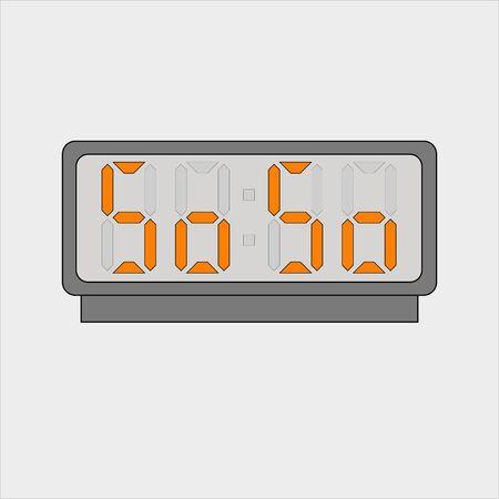 Stylized words So So on digital alarm or clock Иллюстрация