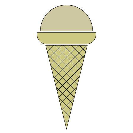 Creme brulee ice cream Ilustração