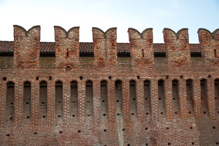 castles needle: a particular castle with bricks in summer