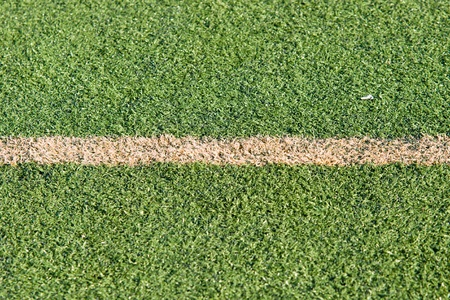 prato sintetico: campo da calcio in erba sintetica per i giochi Archivio Fotografico