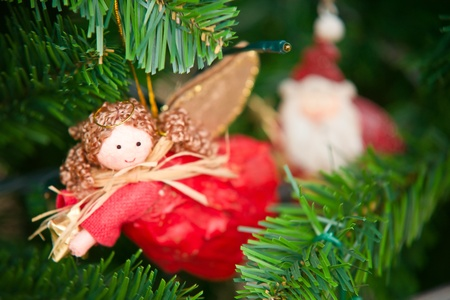 Christmas decorations hung on the Christmas tree Stock Photo - 11673253