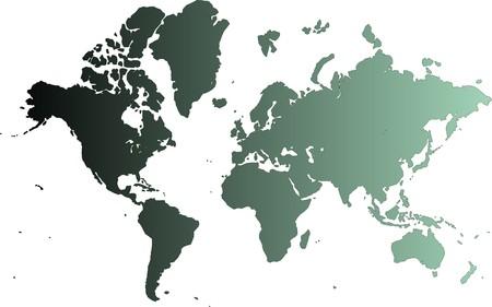 cyan world map Stock Photo - 7262501