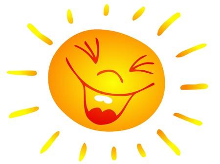 risas: Galer�a de ilustraci�n de arte de un sol sonriente.