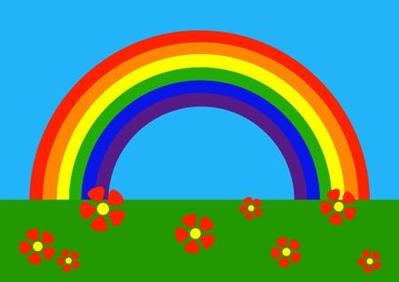 cartoons designs: Semplice disegno di arcobaleno