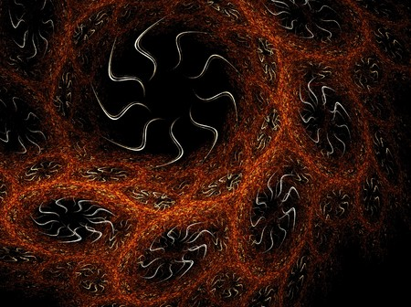 Enmeshed computer generated fractals background photo