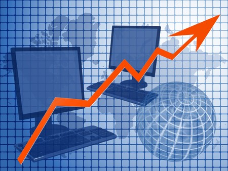 Graph depicting worldwide IT business Stock Photo - 7282180