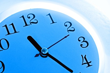 Time background: blue wall clock Stock Photo - 7398610