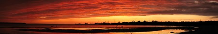 Fiery sunset over the sea Stock Photo - 7398496