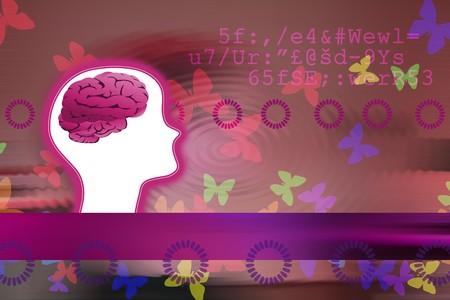 Conceptual image of creators mind photo