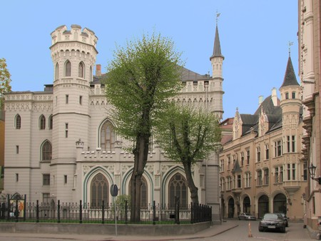 Small Guild House (19th century) in the Old Town of Riga, Latvia photo