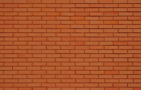 red brick repetition: Natural orange brick wall background