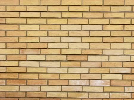 Beige bricks background, white cement grunge photo