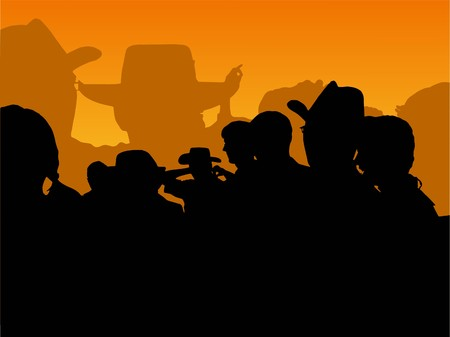 trace of cowboy party photo Vector