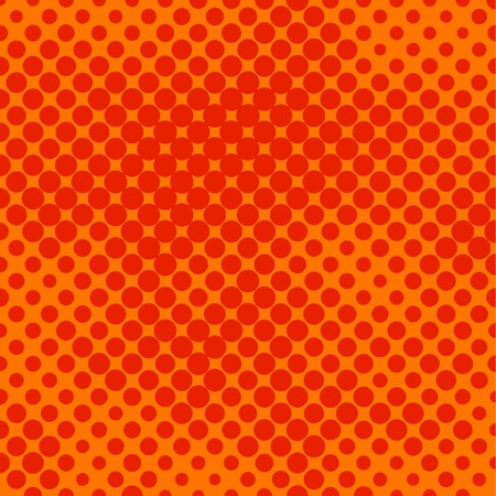 Decorative retro orange halftone background Illustration
