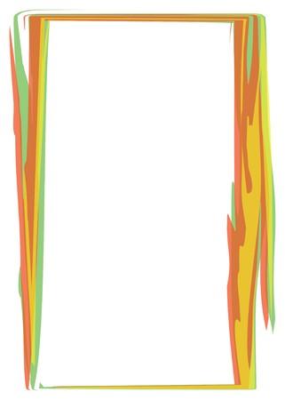 Orange border on white background Stock Vector - 7404335