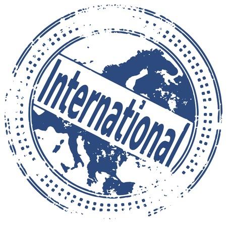 world trade: Ilustraci�n de un sello de tinta de caucho de grunge sobre fondo blanco  Vectores