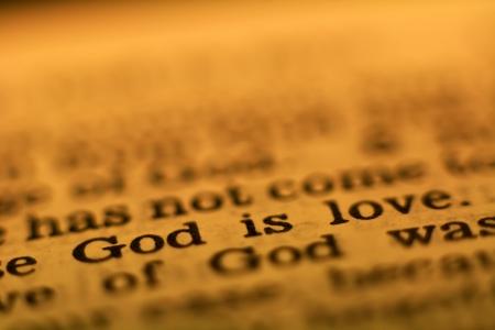 biblia: Pasaje de la Biblia: Dios es amor