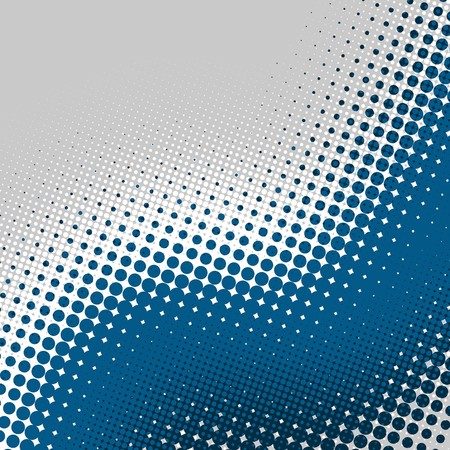 Decorative retro gray and blue halftone background photo