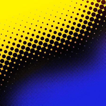 Decorative retro yellow and blue halftone background Stock Photo - 7435962