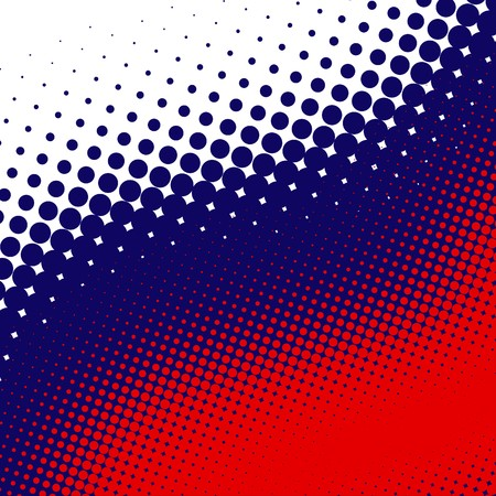 Decorative retro US colors halftone background photo