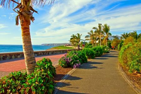 Promenade or walkway at Maspalomas Beach on Gran Canaria island in the Canary Islands Stock Photo - 7436144