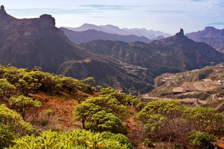 canaria: A picture of the Roque Bentayga in Gran Canaria, Puerto Rico