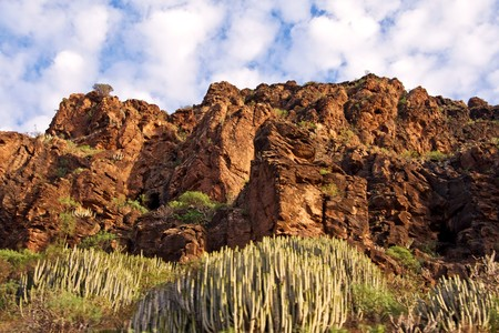 canarian: Gran Canarian mountains in the Canary Islands Stock Photo