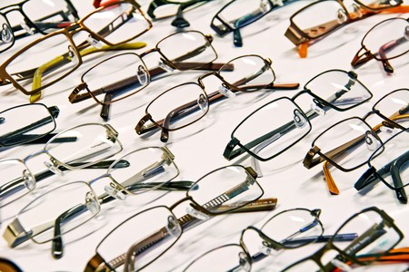 Selection of modern medical eyeglasses