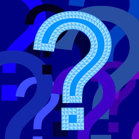 Illustration of blue question marks Vector