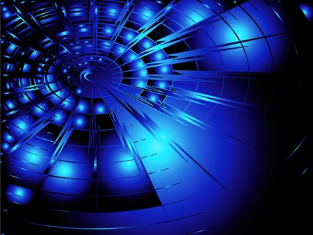 light streaks: Abstract background in blue techno design