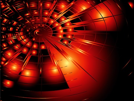 streaks: Abstract background in red techno design Illustration