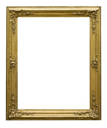 Empty golden vintage frame isolated on white background Stock Photo - 7530499