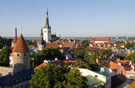View over the Old Town of Tallinn, which is a UNESCO World Cultural Heritage site photo