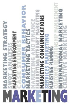 behaviours: Ilustraci�n con mucha de la comercializaci�n de palabras relacionadas  Vectores