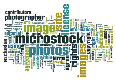 license: Words cloud with microstock photography related terms