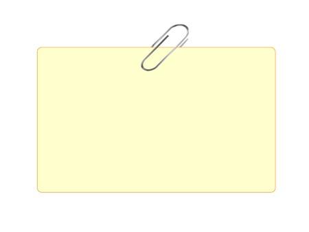 tarjeta amarilla: Celebraci�n de tarjeta amarilla sobre fondo blanco aislado de clip de papel  Vectores
