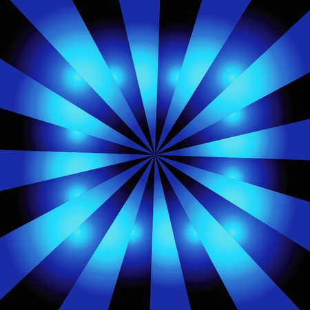 Staburst background with light and dark blue radiating rays Vector