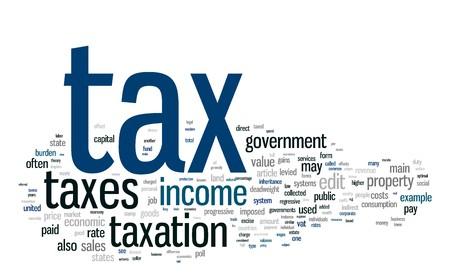 servicios publicos: Nube de Word con impuestos y tem�tica palabras de tributaci�n