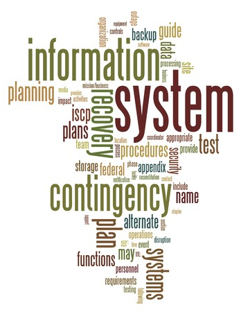 Contingency Planning and Resilience wordcloud with risk management termes Stock Vector - 8130453